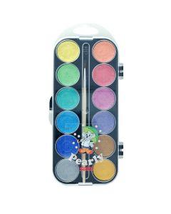 Vattenfärglåda pärlemo 12 färger