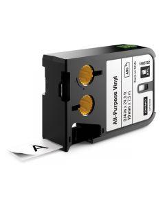 Tape DYMO XTL 19mm Sva på Vit 7m 1868752