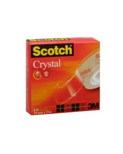 Kontorstejp SCOTCH Crystal 33mx 19mm
