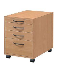 Skrivbordshurts 4 lådor bokfanér