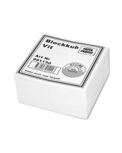 Blockkub 100x100x50mm vit