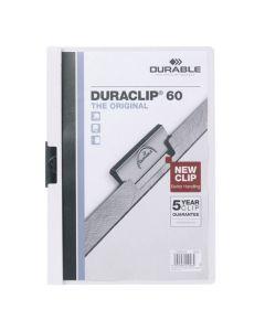 Klämmapp Duraclip 2209 A4 6mm vit