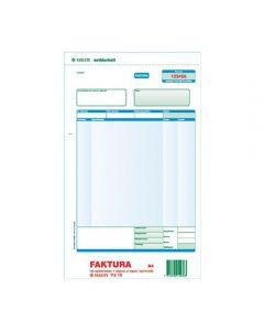 Blankett faktura A4 3x100 numrerad