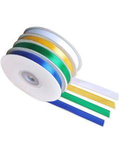 Satinband 10mmx30m 4 färger