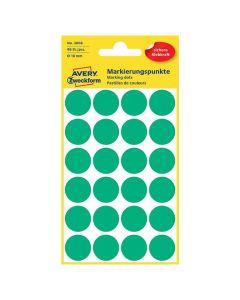 Färgkodningsprick AVERY Ø18mm grön 96/FP