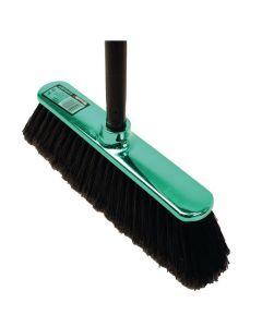 Sopborste Shinybrush grön med skaft