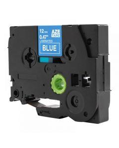 Tape 12mm TZe-535 Vit på Blå