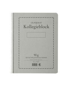 Kollegieblock A4 90g 70 blad olinj TF