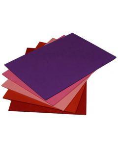 Dekorationskart A4 nyansr Röd-Lila 50/FP