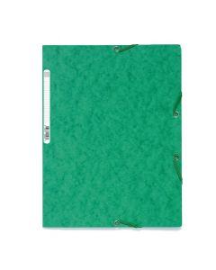 Gummibandsmapp EXACOMPTA 3-klaff A4 grön
