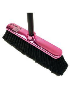 Sopborste Shinybrush rosa med skaft
