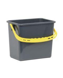 Hink Grå, gult handtag 6 liter