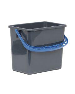 Hink Grå, blått handtag 6 liter