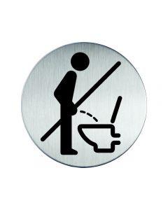 Skylt WC Vänligen sitt ner DURABLE stål