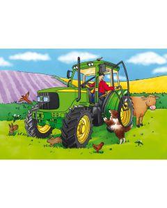 Golvpussel traktor 60x40cm