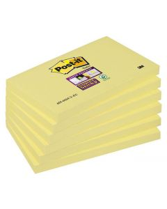 Notes POST-IT SuperSticky gul 76x127mm 6/FP