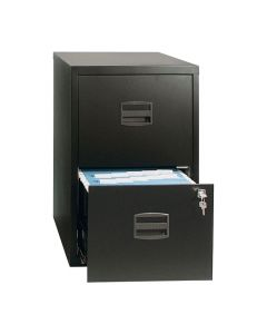 Hängmappsskåp 2 lådor svart