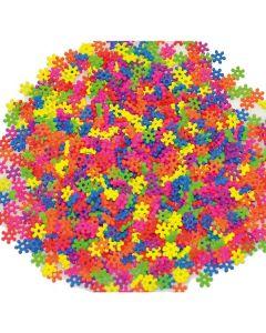 Plastpärlor blommor neon 2000/FP