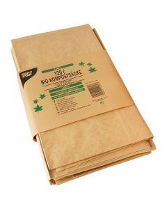 Kompostpåse PURE papp 120 liter brun 3/FP