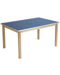 Tapiflexbord 80 x 140cm höjd 64cm blå