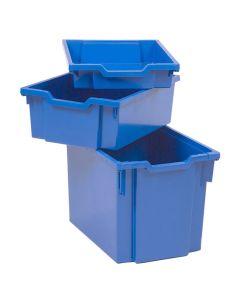 Förvaringsback hög blå