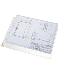 Plastficka ESSELTE A3L prägl. 0,08mm 50/FP