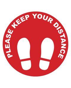 Golvdekal 'KEEP YOUR DISTANCE' 10/FP