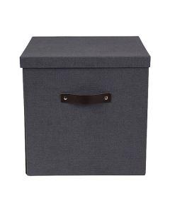 Förvaringsbox m.lock kartong stor svart
