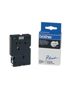 Tape BROTHER TC101 12mm svart på klar