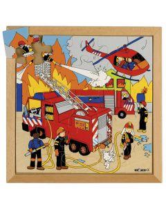Rampussel brandkår 34x34cm