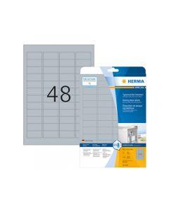 Etikett HERMA Silver 45,7x21,2mm 1200/FP