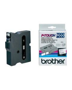 Tape BROTHER TX241 18mm svart på vit