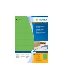 Etikett HERMA Färggrön A4 70x37mm 2400/FP