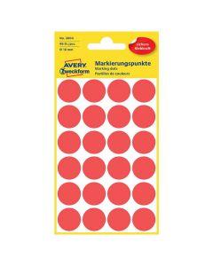 Färgkodningsprick AVERY Ø18mm röd 96/FP