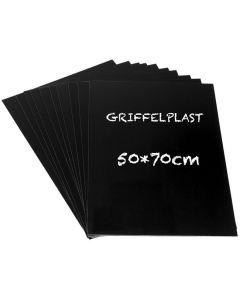 Griffelplast 50x70cm svart 10/FP