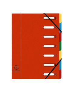 Sorteringsmapp EXACACOMPTA 7-flik röd