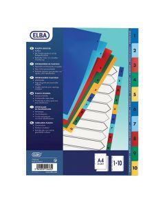 Plastregister ELBA A4 1-10