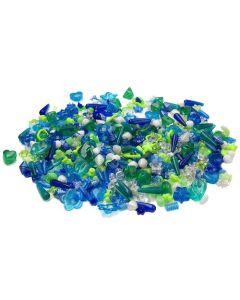 Plastpärlor mix blå/grön 1000/FP