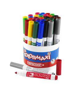 Fiberpenna Colormaxi 3x12 färger