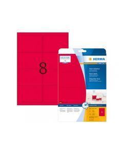 Etikett HERMA Neon röd 99,1x67,7mm 160/FP