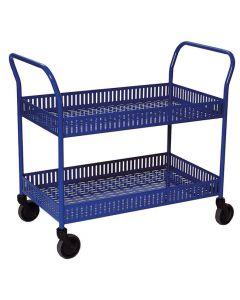 Rullbord 2 korghyllplan blå