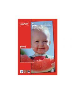 Fotopapper STAPLES Bas 10x15cm gloss 50/FP