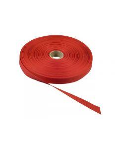 Bomullsband 50mx13mm röd