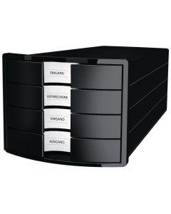 Blankettbox HAN 4 lådor recy svart