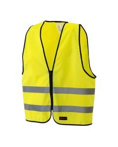 Reflexväst med dragkedja Vuxen-M gul