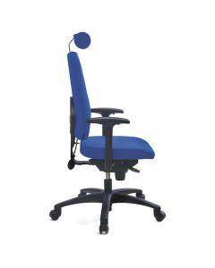 Kontorsstol LD6340 blå utan svankstöd