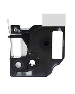 Tape D1 24mm Svart på Klar