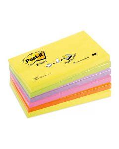 Notes POST-IT Z-block 76x127mm neon 6/FP
