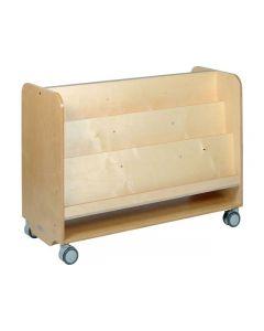 Förvaringshylla bokvagn GROCARE, björk