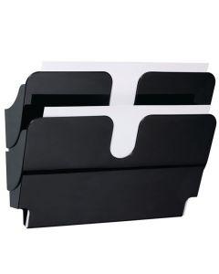 Blankettfack FlexiPlus A4L 2 fack svart